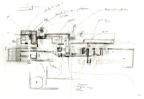 Bartolomeu Costa Cabral, House in Beja (2004-2008), study.